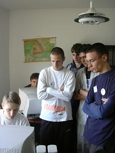 Zsolt, Endre, Zsolt, Laci, Andras impreuna cu Cristi Armeana, Project Manager Timsoft
