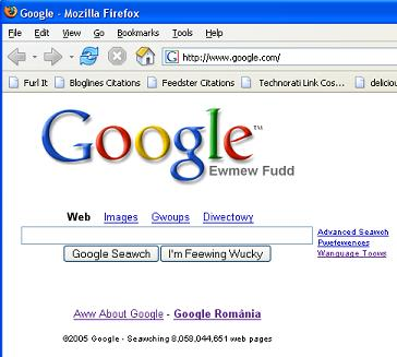 Afisare Google sub Firefox