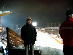 Da, am fost pe partie la World Cup Ski Jumping; aici Cristian Armeana-Project Manager